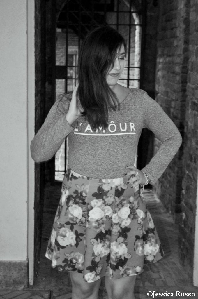 outfit flower skirt
