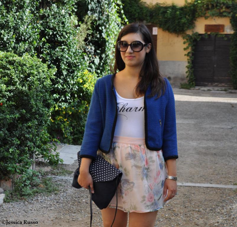 outfit blazer blu
